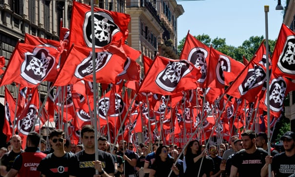 Facebook closes Italian neo-fascist party's account | Italy | The Guardian
