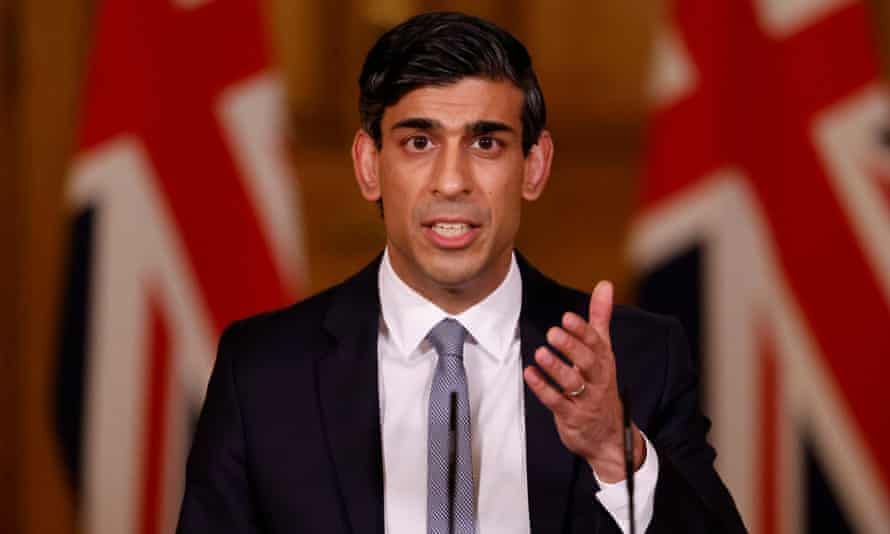 Rishi Sunak made his speech to a socially distanced and masked parliament.