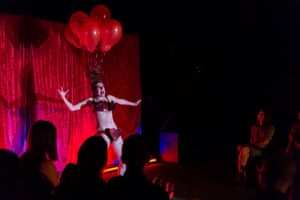 Moira Finucane as Queen of Hearts in Hotelling