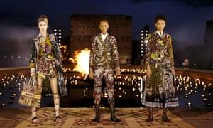 Dior's wax print fabrics in Marrakech.