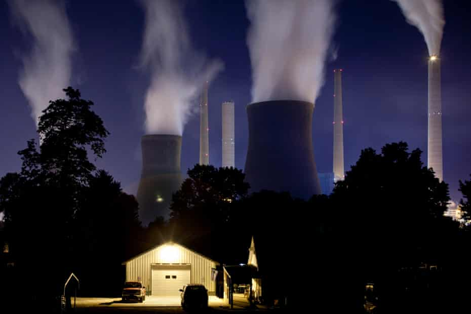 A coal-fired power plant in West Virginia.