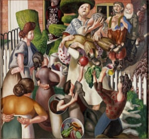 Stanley Spencer, The Dustman or The Lovers, 1934.