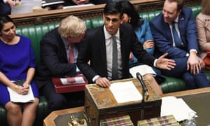 Chancellor Rishi Sunak delivering his budget speech on 11 March.