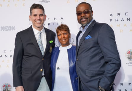 Alan Elliott, Sabrina Owens and Tirrell Whittley attend the premiere of Amazing Grace.