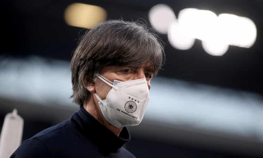 Joachim Löw during the match against North Macedonia, who won thanks to Eljif Elmas's 85th-minute goal.