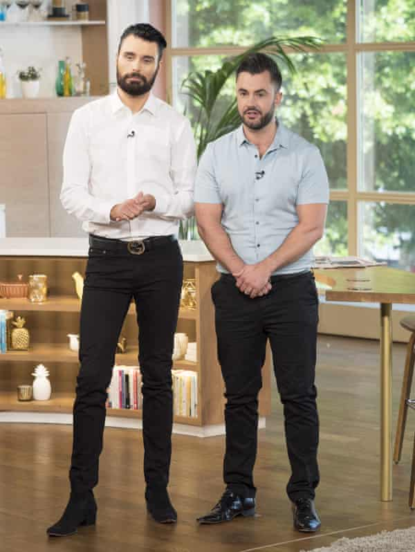 Rylan Clark-Neal with his husband, Dan Neal, on This Morning in 2017