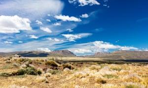 Heat sets the land ablaze … Patagonia, Argentina.