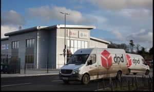 DPD delivery vans outside the firm's Bournemouth depot
