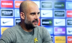 Pep Guardiola, the Manchester City manager, has been fined £20,000 by the FA for wearing a yellow ribbon