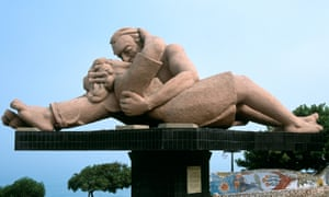 In the public eye … a statue in Parque del Amor in Lima.