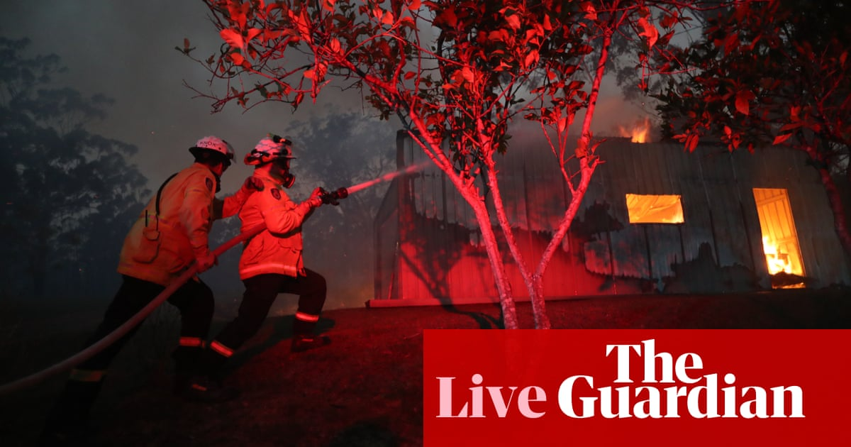 5472 - Australia fires live: homes feared lost in NSW bushfires as six firefighters reported injured – latest updates | Australia news
