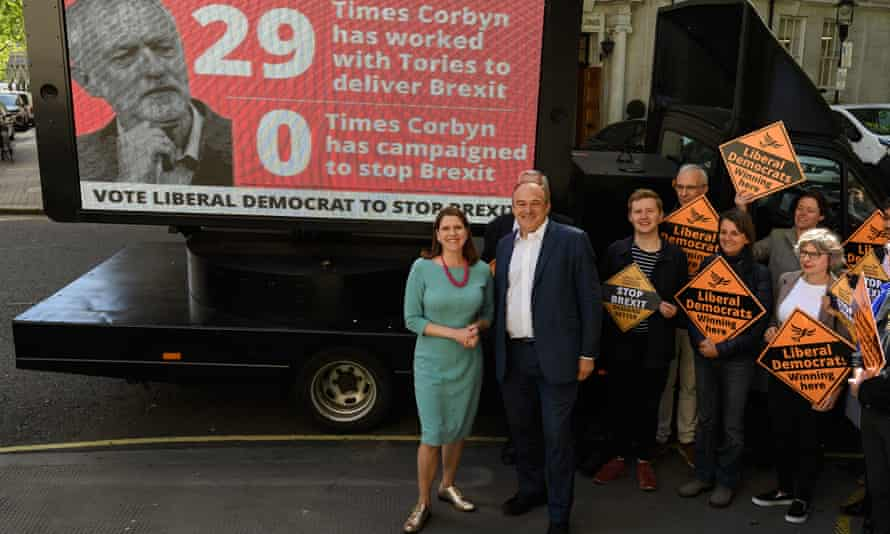 Lib Dem leadership candidates Jo Swinson and Sir Ed Davey.
