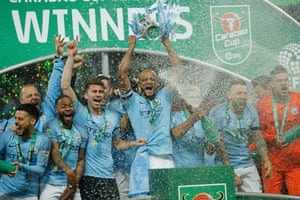 City lift the cup
