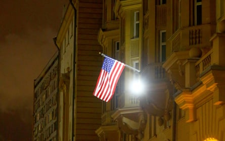 The US embassy in Moscow.