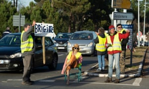 Gilets jaunes protesters in Langon, near Bordeaux, 11 December 2018.