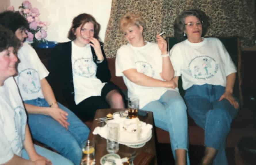 Cathy Rentzenbrink with the ladies darts team.