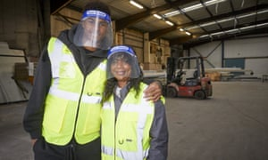 Manchester United player Marcus Rashford and his mother Melanie visit FareShare Greater Manchester at New Smithfield Market, Manchester, England, on 22 October.