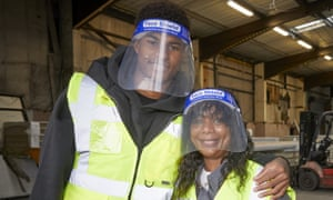 Marcus Rashford and his mother, Melanie, visit FareShare in Greater Manchester on 22 October.