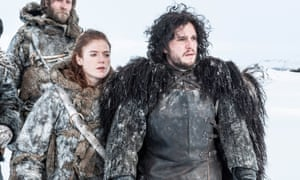 Kit Harington and Rose Leslie together in Game Of Thrones.