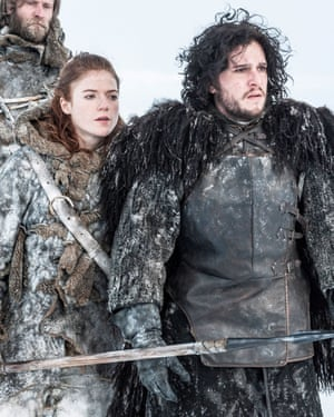 Ygritte and Jon Snow.