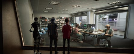 Characters live, work and study in the virtual world in Ready Player One.