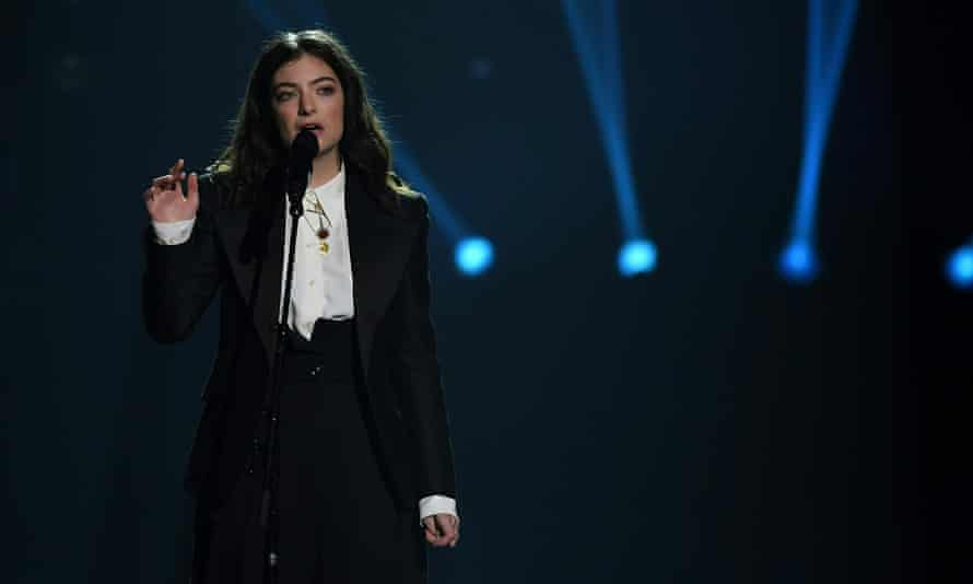 Lorde performs at the 2018 MusiCares Person Of The Year gala at Radio City Music Hall in New York