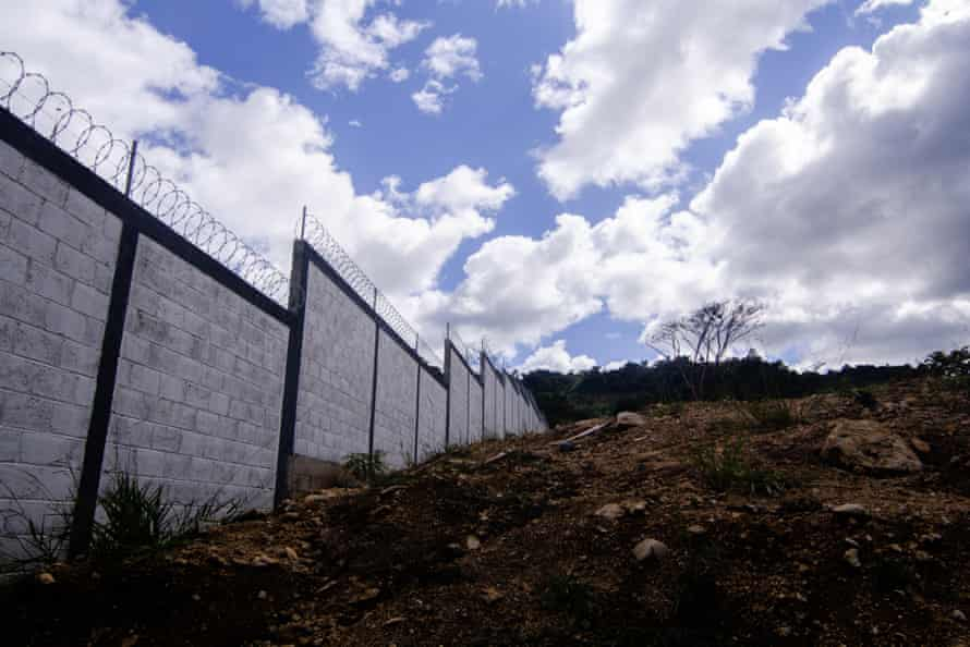 The walls around one of some 500 national guard barracks planned around Mexico.