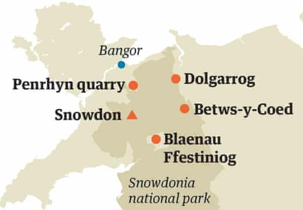 snowdonia map