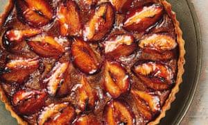 Yotam Ottolenghi's plum, chestnut and walnut tart.
