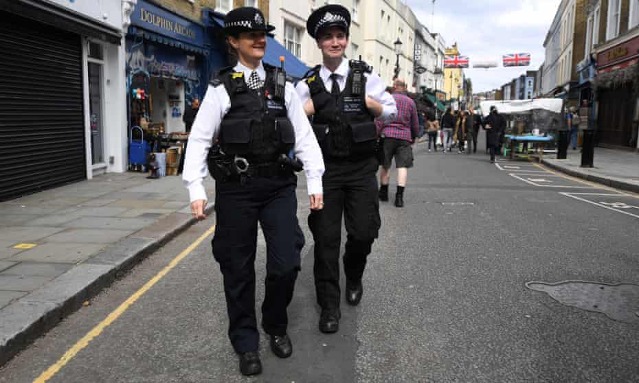 Police officers in Notting Hill