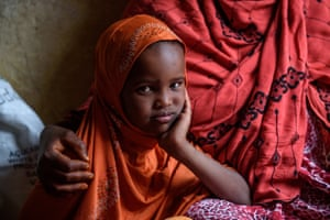 Nimah, five, with her mother, Amina, near their home in western Somaliland