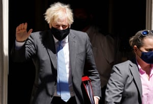 Boris Johnson leaves number 10 ahead of PMQs