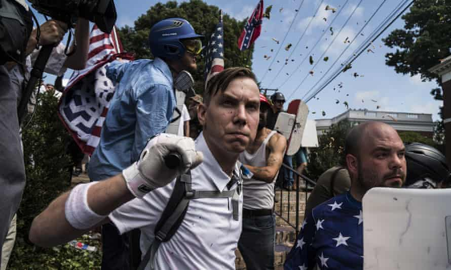 People at the Unite the Right white supremacist rally in Charlottesville, Virginia