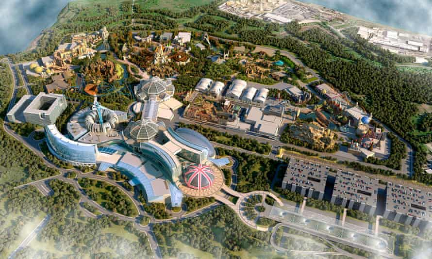 Concept artwork for the London Resort, to be created on a 535-acre Kentish site.