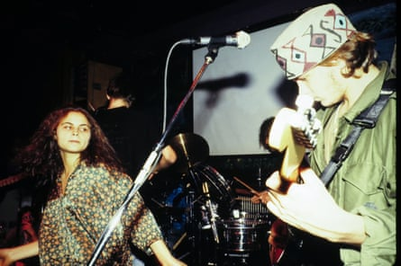 Rain and River Phoenix performing in New York in 1991.
