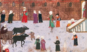 A detail from an early 16th-century miniature of Constantinople's Hippodrome square.
