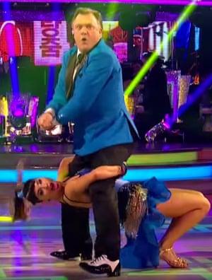 Ed Balls with dance partner Katya Jones.