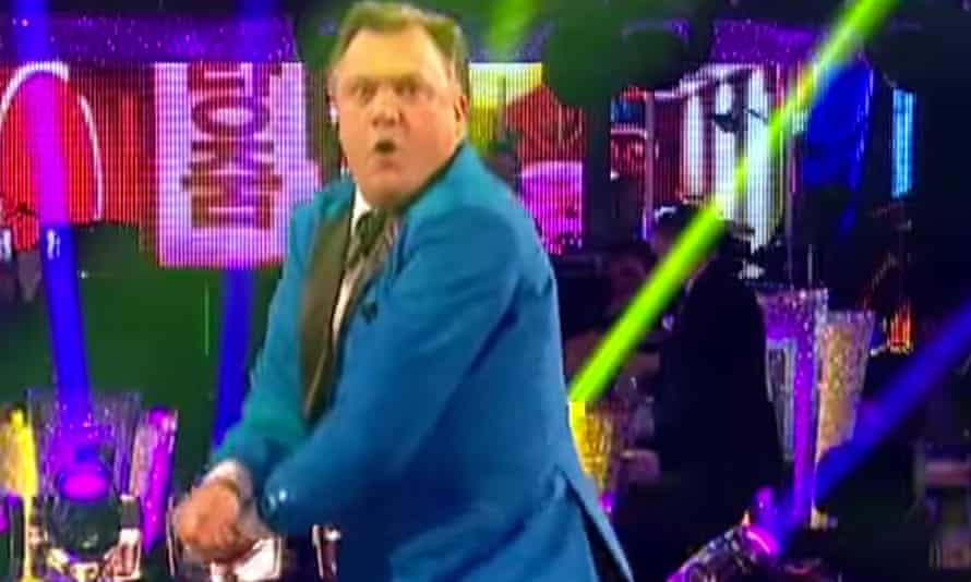 Ed Balls shows off his Gangnam style.