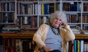 """Jan Morris in her study"""