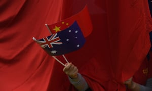 The Australian and Chinese flags