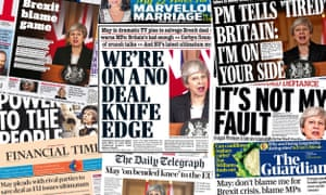 Front pages of the UK papers on Thursday 21 March 2019
