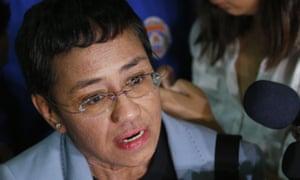 Maria Ressa of the Philippine online news site Rappler