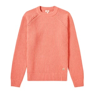 Pink crew knit, £129, by Armor-Lux, from endclothing.com.