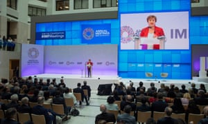 Kristalina Georgieva, managing director of the IMF, giving her curtain-raiser speech in Washington last week.