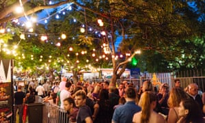 The line stretches outside the Garden of Unearthly Delights at Adelaide Fringe festival 2016.