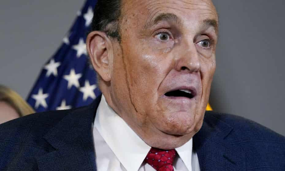 Rudy Giuliani has denied discussing a pardon with Donald Trump.