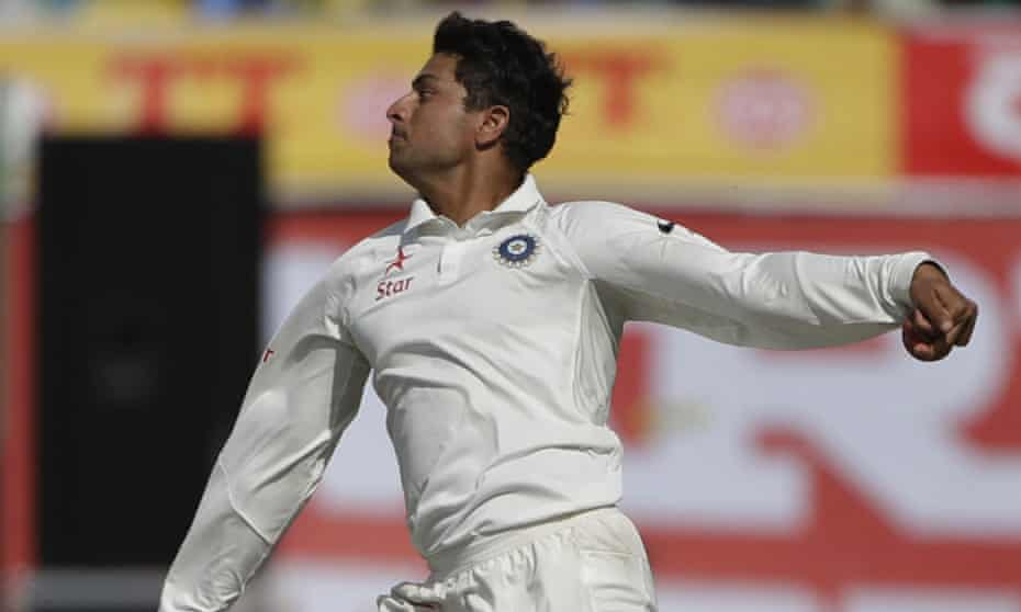 India's Kuldeep Yadav impressed during his debut in the fourth Test victory over Australia. He bowls left-arm wrist spin, which in the game has long been known as a 'chinaman' bowler.