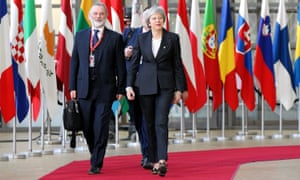 British Prime Minister Theresa May in Brussels for Brexit talks with EU leaders. Her lack of progress drove the pound lower agains the dollar and the euro on Friday.