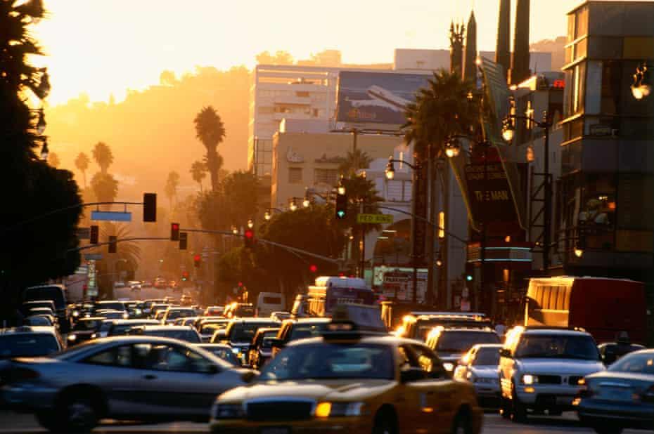 Rush hour on Hollywood Boulevard.