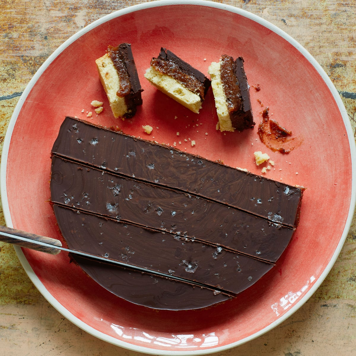 Meera Sodha S Recipe For Vegan Salted Date Caramel Biscuit Slices Food The Guardian